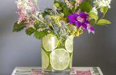 Hoe maak je een bloemstuk met gesneden Limes