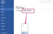 Het gebruik van Microsoft Word te maken van uw eigen Baby Shower uitnodigingen