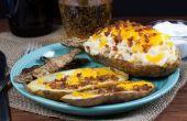 Hoe maak je gebakken aardappel Skins