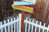 Zelfgemaakte houten teken Post