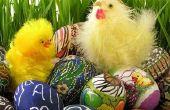 Zelfgemaakte decoraties voor Pasen