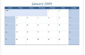 Hoe maak je een kalender in Microsoft Excel