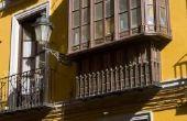 Hoe te schatten van de kosten van het balkon