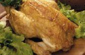 Het opwarmen van een hele kip