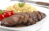 Verschil tussen de lendenen en Londen Broil vlees bezuinigingen