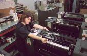 Types van gedrukte pers Machines