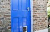 Exterieur verfkleuren naar coördinaat met bakstenen huizen