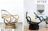 How to Paint een rieten stoel (met een schapenvacht rugleuning)