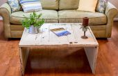 Hoe maak je een koffietafel van een oude deur