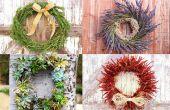 5 Kerstmiskronen die eenvoudig te maken