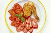 Hoe te bakken kip benen bloem en ei-gecoat