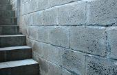Hoe te schilderen van betonnen blok kelder muren