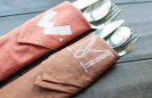 Hoe om te naaien en Monogram servetten