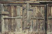 How to Fix oude schuren met staalkabels