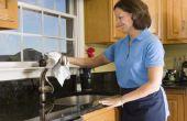 Hoe schoon een samengestelde wastafel van graniet