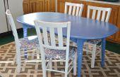 Hoe te schilderen van een goedkope keukentafel te kijken gloednieuw