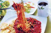 Wat soort rode wijn Is het beste om te gebruiken in Spaghetti saus?