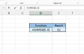 Het gebruik van Excel's KWADRATENSOM functie