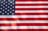 Drie manieren van het weergeven van de Amerikaanse vlag