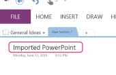 Hoe te importeren van PowerPoint naar OneNote
