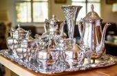 Hoe schoon te maken en zorg voor een verzilverd thee Set