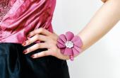 DIY stof bloem Corsage