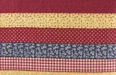 Hoe maak je een Quilt blok door naaien Strips samen