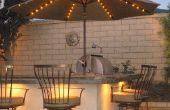 De ideeën van het ontwerp voor achtertuin BBQ-patio 's