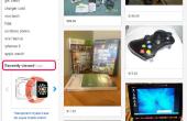 Hoe te verwijderen onlangs bekeken objecten op eBay