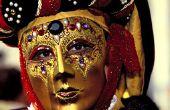 Hoe maak je een masker van papier Mache Masquerade