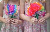 Hoe maak je papier bloemen met kinderen