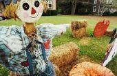 Ideeën voor het versieren van een tuin met een thema herfst & maïsstengels