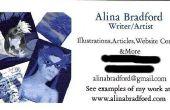 Het ontwerpen van uw eigen visitekaartjes kunstenaar