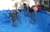 Zelfgemaakte boven de grond zwembad