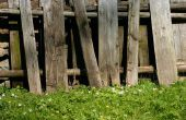 Ambachten met rustieke houten omheiningen