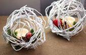 Deze mooie DIY wilg takje ballen zijn perfecte vakantie Decor