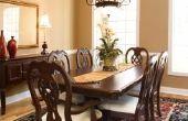 Hoe kan ik mijn eetkamer stoelen verhogen wanneer zij te laag zijn?