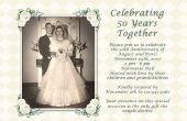 Ideeën voor een 50e bruiloft verjaardag uitnodiging