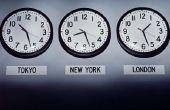 Het gebruik van een tijdzone kaart werkblad