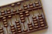 Het gebruik van een Chinese Abacus