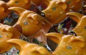 Dieren gemaakt van bloempotten