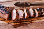 Hoe grill een varkenshaasje