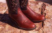 Het verkleinen van de Western laarzen met behulp van azijn