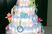 Hoe maak je Baby douche luier taarten
