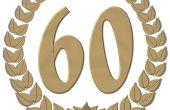 Gratis 60e verjaardag partij ideeën