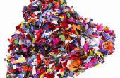 Abstracte kunst ideeën voor tieners met behulp van gerecycleerde materialen