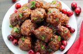 Gebakken Cranberry gehaktballen