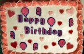 Verjaardag Cake ideeën voor een rechthoek Cake