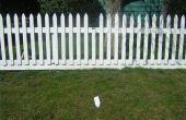 Hoe een hek Whitewash