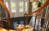Wat te gebruiken voor een afgewerkte rand boven aan de trap in hardhout installatie